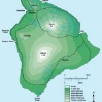 Big Island Elevation Map