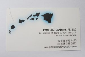 Business Card For Peter J.K. Dahlberg