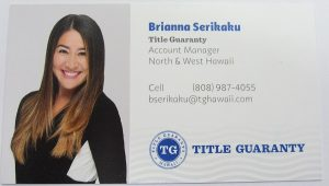 Business Card for Title Guaranty