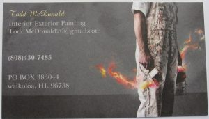 Business card for Todd McDonald