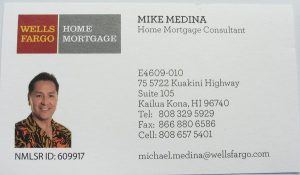 Business card for Wells Fargo Home Mortgage