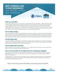 More info for property owners on Flood Maps and Insurance