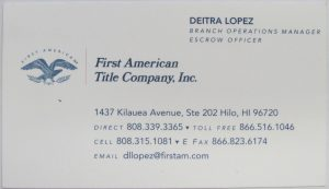 Photo of business card